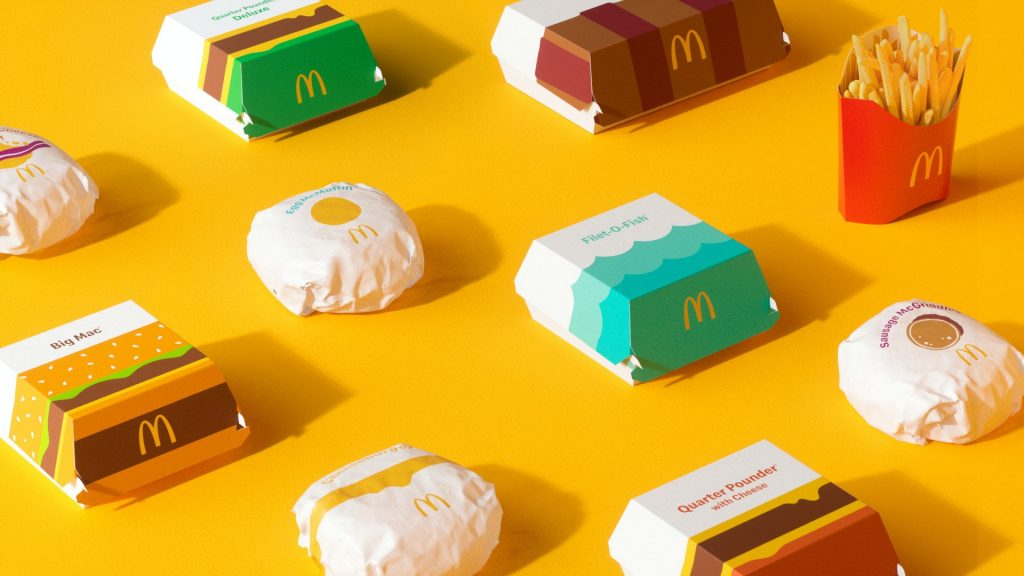 nuevo packaging de McDonalds